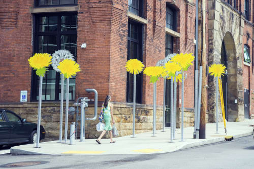 Public Sculptures by Carin Mincemoyer seen at Brew House Lofts, Pittsburgh - Dandelions