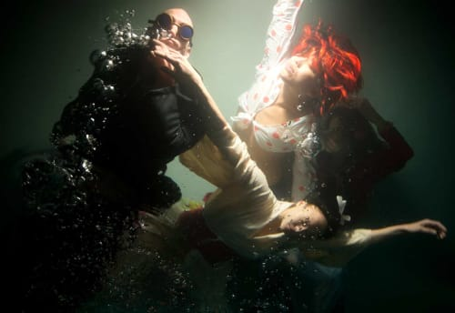 """Photography by Christy Lee Rogers at Private Residence - """"Au Milieu Des Cypres"""" Underwater Photograph"""