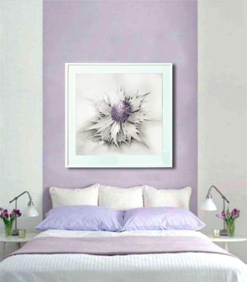 Paintings by Katherine Baronet seen at Lisa Bennett Salon, Dallas - Lavender Thistle