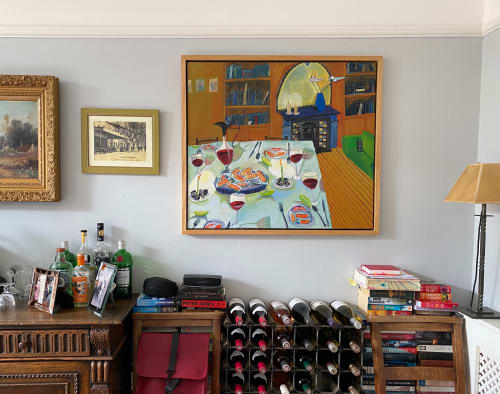 Murals by Rachel Campbell Painting seen at Private Residence, London - Dinner Party Painting