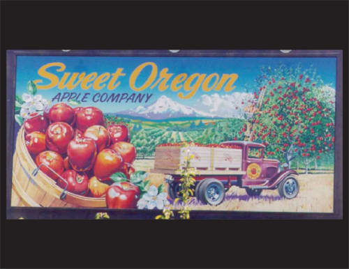 Murals by Jose Solis Creative Art Services seen at Hillsboro, Hillsboro - Sweet Oregon Apple Co. mural