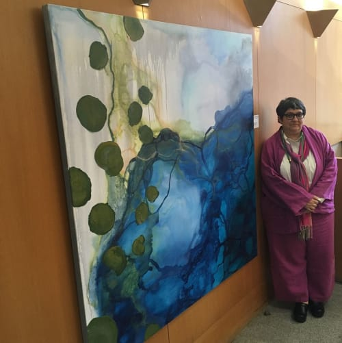 Paintings by Kimberley D'Adamo Green seen at Berkeley, Berkeley - Gulf of Mexico, agricultural runoff