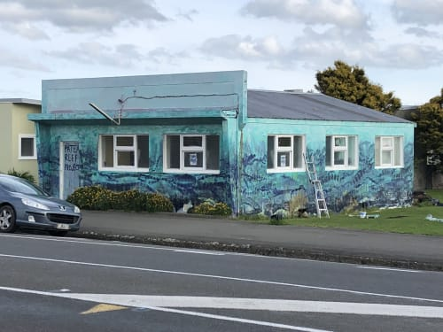 Murals by Phil Jones seen at Patea, Patea - Patea reef mural