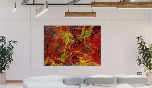 Paintings by Augusto Rodriguez seen at Creator's Studio, Bogotá - TOCAME. Técnica: Esmalte Alquídico sobre lienzo. 150x110cm.