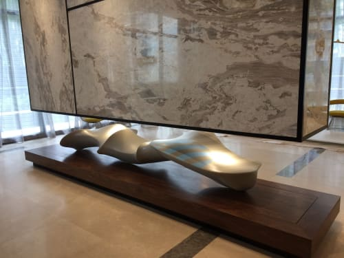 Sculptures by George Goodridge, Fine Art, Dimensional Paintings and Sculptures seen at Brickell Heights Condominium Association, Miami - Hybrid #1 and Hybrid #2