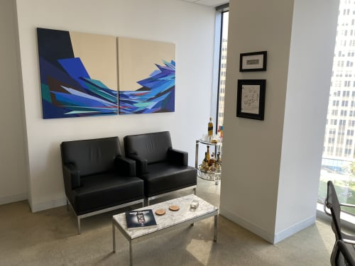 Paintings by Sophia Pauley seen at Private Residence, Los Angeles - Water of Leith series