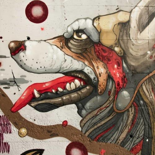 Street Murals by Fedor Rua seen at Corgo Park, Vila Real - Street Art