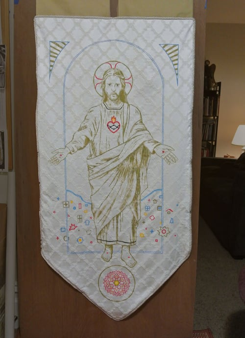 Art & Wall Decor by Stefan Salinas seen at Most Holy Redeemer Church, San Francisco - MHR Processional Banner