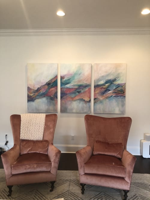 Paintings by Barbara Rubenstein seen at Private Residence, New Orleans - A Deeper Place