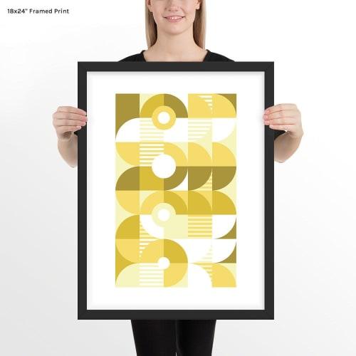 Art & Wall Decor by Michael Grace & Co - Monochromatic Machine in Gold Art Print