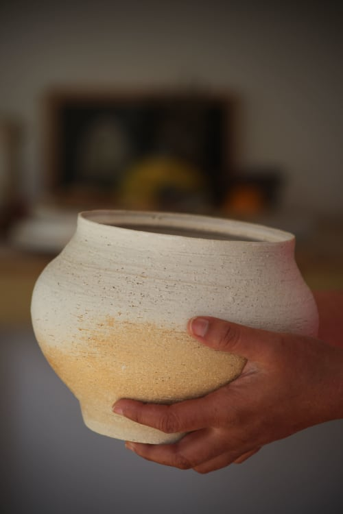 Utensils by KilnGod Ceramics seen at Creator's Studio, London - Wheel Thrown Stoneware large Serving Bowl .High Fired