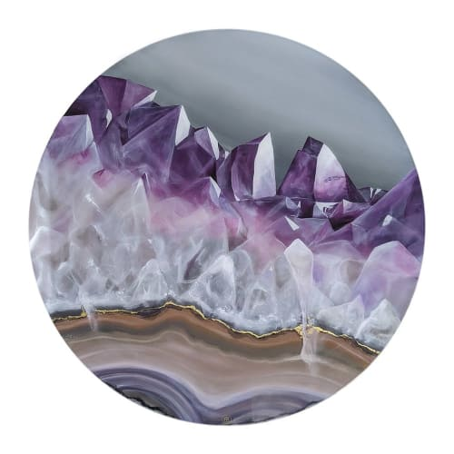 Paintings by VICTOR BARONI seen at Private Residence, Troyes - Amethyst Geode