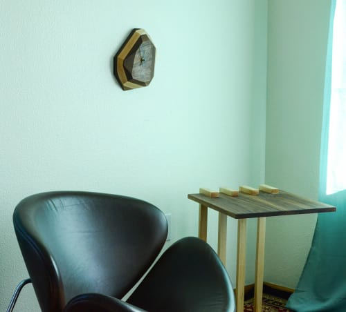 Wall Hangings by THE IRON ROOTS DESIGNS at Clients Residence - Portland, OR, Portland - Geometric Wall or Table Clock