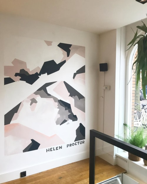 Murals by Helen Proctor seen at Blatto International hairsalon, Amsterdam - Mural