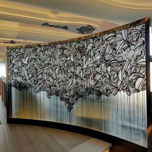 Murals by KEF! at SKYE - Interior Mural