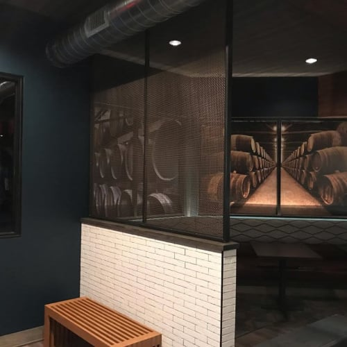 Architecture by Cascade Metal Design seen at Bin 23 Wine Bar, Bistro and Marketplace, Granger - Custom Architectural Metal Fabrication