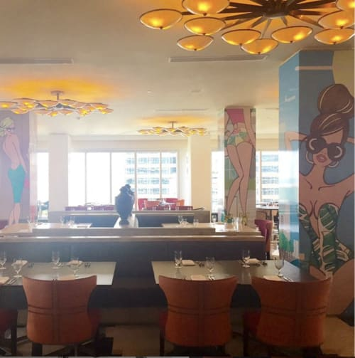 Murals by My Jetsetter Life seen at Miami, Miami - Viceroy Miami