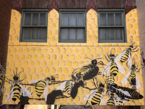Murals by Bobby MaGee Lopez seen at The Oxford Hotel, Denver - Pollinators