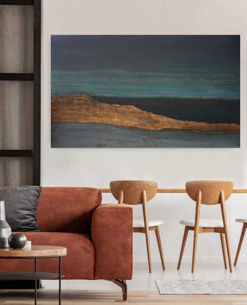 Paintings by Rachel Newton seen at Private Residence, London - Away With The Ocean