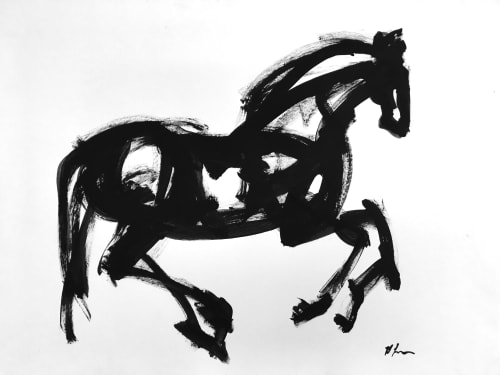 Horse Prance | Paintings by Heidi Lanino | Cheval Gloucester Park in London