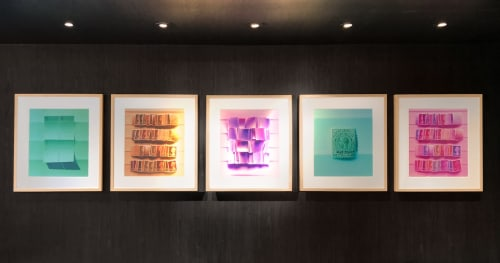 Wall Hangings by Leslie Ann Wigon Art & Design seen at Bluebird London NYC, New York - Fine Art Photography