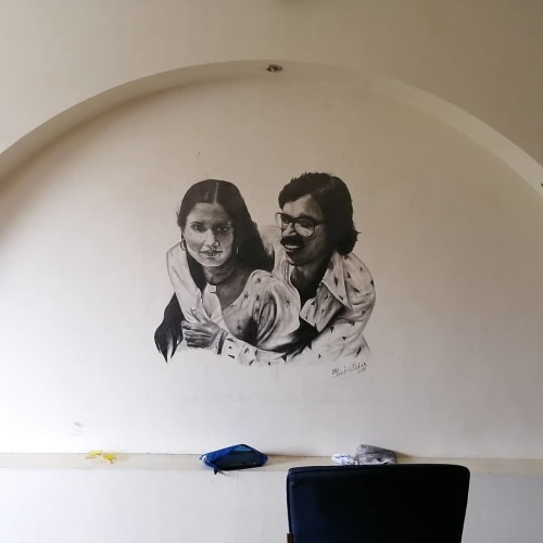 Murals by Art stadium seen at Private Residence, Mumbai - Commissioned Mural