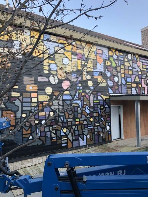 Murals by Derrick Hickman seen at Easton Town Center, Columbus - Exterior Wall mural