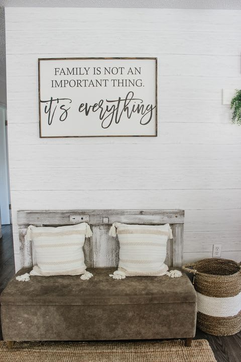 "Art & Wall Decor by Williamraedesigns seen at Chantelle Lourens' Home - ""Family is not an important thing, it's everything"""