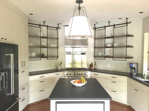 Furniture by Stål Timber at Private Residence, Dallas - Modern Home Kitchen Shelves and Screens