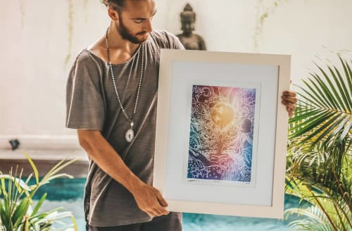 Paintings by George Francis seen at Bali - Ink painting