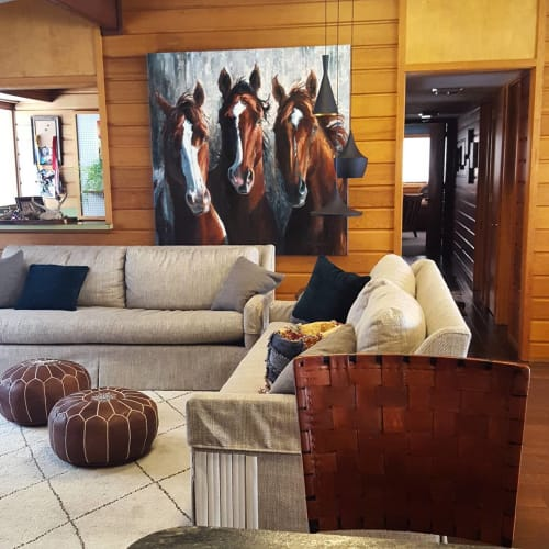Paintings by Sonja Caywood seen at Private Residence, Dayton - Commissioned painting