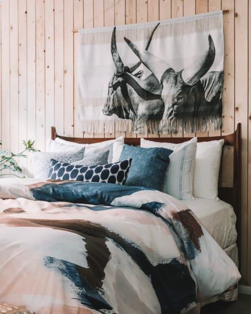 """Linens & Bedding by Laura Fedorowicz seen at Private Residence, Hamilton - """"Champion Dreamer"""""""