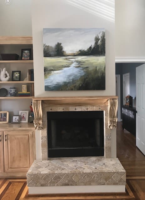 Paintings by Elaine Jackson seen at Private Residence, Brentwood - Wandering