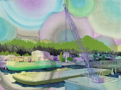 Paintings by Elizabeth Gahan seen at Linda Hodges Gallery, Seattle - Industrial Mystique