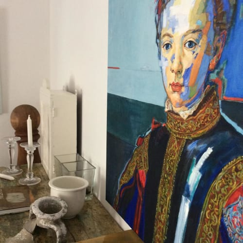 Paintings by Paulina X. Miranda seen at Private Residence, Santiago - Francesco
