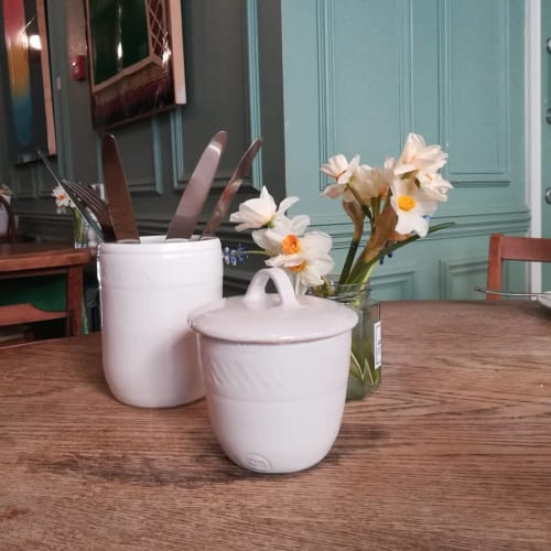 Tableware by Charlotte Storrs seen at Turl Street Kitchen, Oxford - Large butter pot