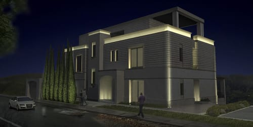 Lighting by Rouzana K Kopti seen at Private Residence, Amman - Landscape Design & Landscape Lighting