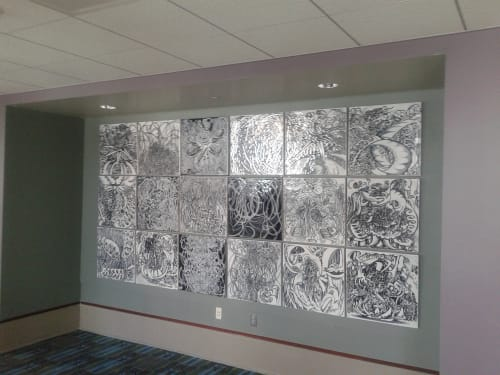 Tiles by Paul Santoleri seen at Pennsylvania Convention Center, Philadelphia - BRAMBLE