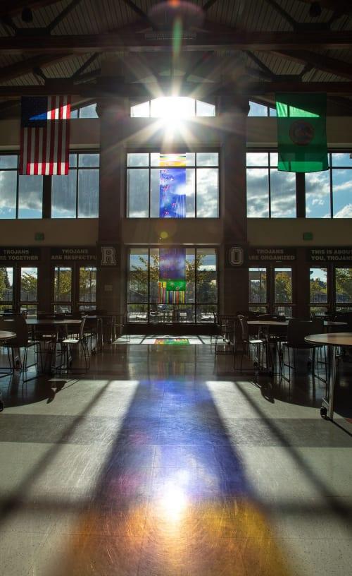 Art & Wall Decor by Derix Glasstudios seen at Auburn High School, Auburn - Glass Art