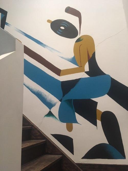 Murals by Munir de vries seen at SWORDFISH & FRIEND, Utrecht - Swordfish & Friend Mural