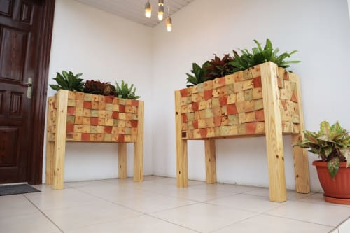 Furniture by STRIPESCRAFT seen at Private Residence, Accra - DONT TOUCH ME MOSAIC PLANTERS