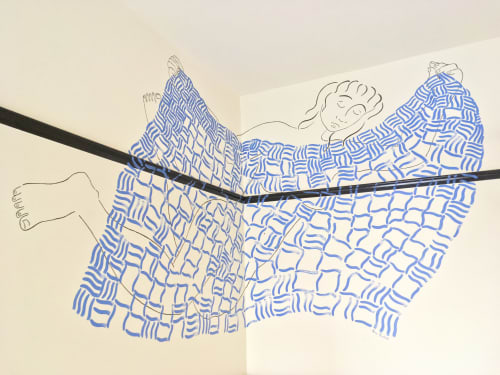 Murals by Kira Buckel seen at Freehand NYC, New York - Stretch