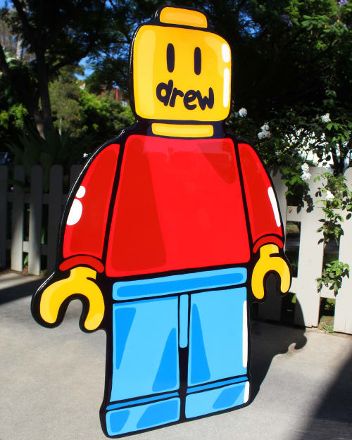 Paintings by Idiot Box Art seen at Private Residence, Los Angeles - Drew House Lego For Justin Bieber