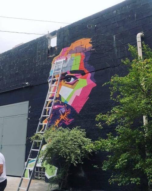 Street Murals by Stan Bellini seen at Avenida Paulista, Bela Vista - Street art mural