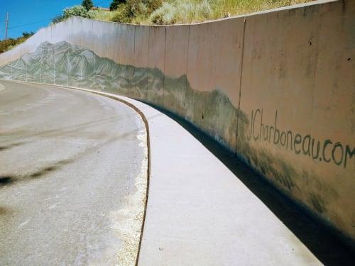 Street Murals by J.Charboneau seen at Reno, Reno - The Infinity Range