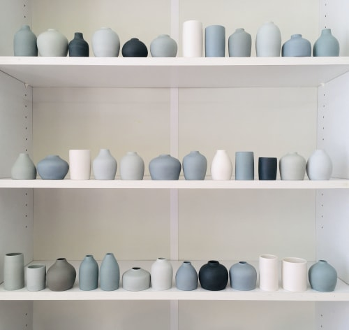 Vases & Vessels by ritziporzellan seen at ap store & gallery, Zürich - Vases, wheelthrown of colored porcelain