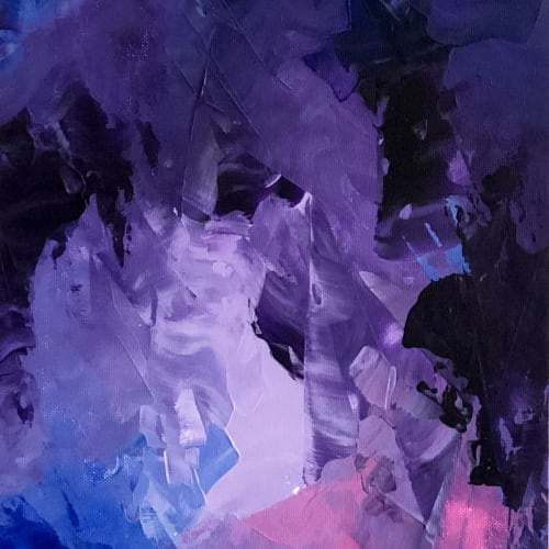 Paintings by sorayart - sorayacaballero seen at Private Residence, Mexico City - Violet