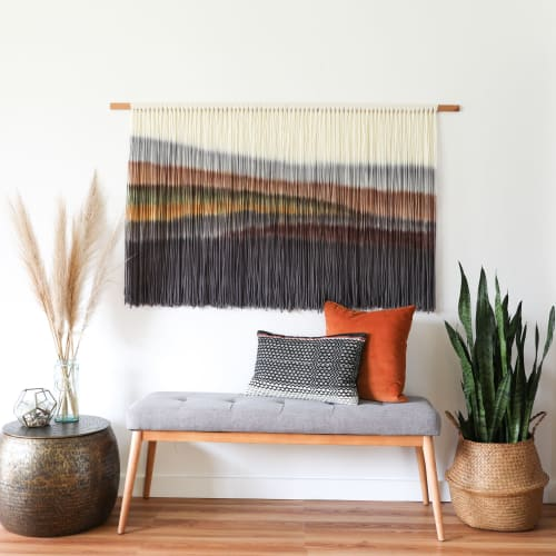 Wall Hangings by Kelsey Cerdas Art seen at Private Residence - Santa Cruz, CA, Santa Cruz - Harper - Hand Dyed Fiber Wall Hanging