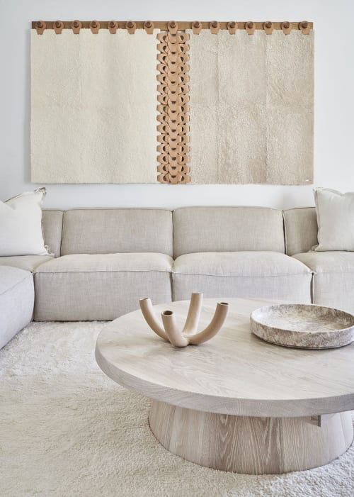 Wall Hangings by Moses Nadel seen at Private Residence, Bridgehampton - Vertebrae X Wall Tapestry/Headboard