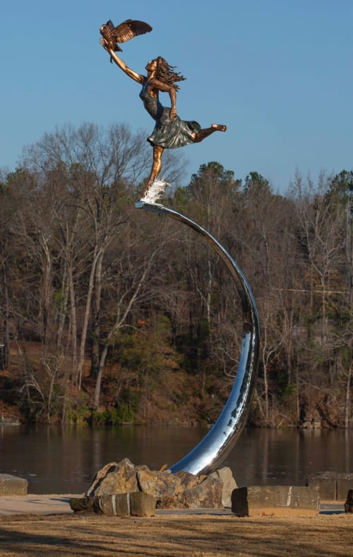 Public Sculptures by Caleb OConnor seen at Park at Manderson Landing, Tuscaloosa - Minerva